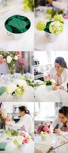 10 DIY Wedding Flower Centerpieces On A Budget – City of Creative Dreams 10 DIY Hochzeit Flower Centerpieces auf ein Budget Diy Wedding Flower Centerpieces, Diy Wedding Flowers, Diy Centerpieces, Wedding Decorations, Diy Flowers, Fake Flowers, Bucket Centerpiece, Hydrangea Centerpieces, Graduation Centerpiece