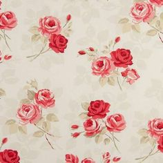 Buy this classic floral design fabric online today. A perfect fit for a vintage chic decor, this fabric is ideal for making curtains and upholstery.