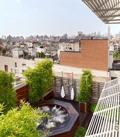 Rooftop jacuzzi (with a view).