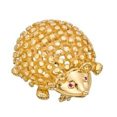 TIFFANY & CO SCHLUMBERGER Gold Hedgehog Pin - Betteridge