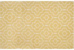 Leon Rug, Light Gold/Ivory on OneKingsLane.com