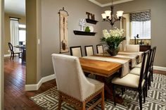 Dining Room:Dining Room Table Centerpieces Ideas That Stun You Plants Green Dining Table Centerpieces Decor With Textured Wood Dining Table And Contemporary Laminated Dining Chair Plus