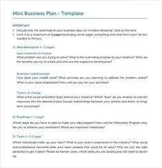 Business Proposal Cover Letter Sample Plan Resume Bank For - Mini business plan template