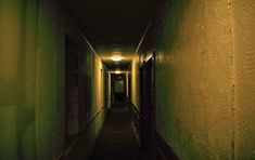 The upstairs where we saw a woman in white at the end of the hallway of the Lafayette Hotel during our paranormal investigation Lafayette Hotel, Emergency Lighting, Paranormal, Investigations, Woman, Study, Women