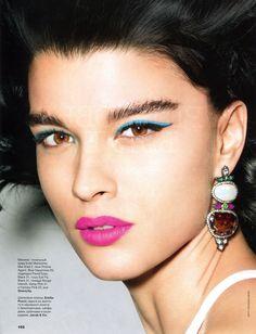 Crystal Renn by Raymond Meier for Allure Russia February 2013 - Eyeshadow Lipstick