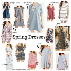 Today on the blog it's all about the gorgeous Spring dresses that are showing up in stores.  We definitely have Spring fever and nothing is better than a cute little dress. Our favorites are the floral halter, camo, and that cute $32 stripe dress! What's your favorite dress style for Spring!? Get details on these and some other beauties on the blog (link in profile) or by using this URL: http://liketk.it/2qqKu 🌸 @liketoknow.it #liketkit    #Regram via @twopeasinablog