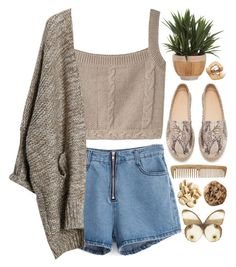 1599. Cool Kid by chocolatepumma on Polyvore featuring polyvore, fashion, style, Opening Ceremony, Zara, Lux-Art Silks, croptop, personalstyle, denimshorts and topset