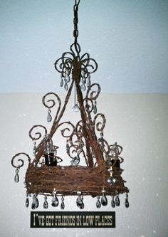 barbed wire crystal chandilier | Where can I get the barbed wire chandelier??? I live in Desert Hills ...