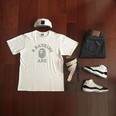 👍or👎: by 👕: 👖: 👟: 11 'Concord' 🔹: ⌚️: for on-feet photos for outfit lay down photos Jordan 11 Outfit, Jordans Outfit For Men, Jordan Outfits, Nike Outfits, Cool Outfits, Casual Outfits, Teen Boy Fashion, Dope Fashion, Hype Clothing