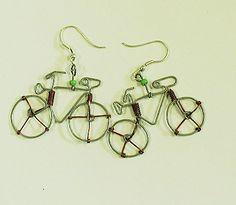 Bicycle Earrings - Kenya