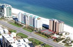 These condos are located right on the beach with huge balconies.