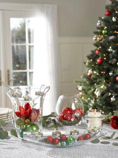Noël créatif avec PartyLite Créez un centre de table personnalisé pour les fêtes en un tour de main. #JoinOurParty