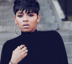 Amazing Short Hairstyles for African American Woman - New Look Summer 2018 Natural Hair Short Cuts, Short Sassy Hair, Short Hair Cuts, Natural Hair Styles, Short Hair Styles, Short Relaxed Hairstyles, Pixie Hairstyles, Pixie Haircut, Straight Hairstyles