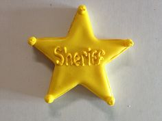 Sheriff badge cookies for Toy Story party