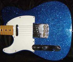 sparkley blue guitar