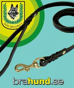 DS Hundkoppel av läder, x svart Ds, Personalized Items
