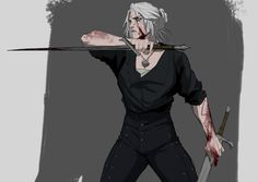 The Witcher Geralt, Witcher Art, Castlevania Netflix, The Witcher Game, Sarada Uchiha, Medieval Fantasy, Character Drawing, Fantasy Creatures, Dungeons And Dragons