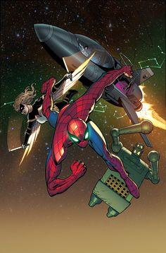 Mockingbird & Spider-Man by Guiseppe Camuncoli