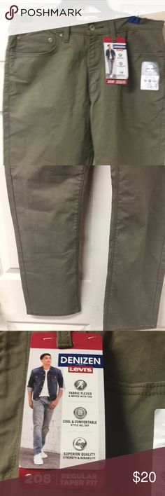 Levi's denizen 208 regular fit 32x30 New with tags size 32x30 Levi's 208 regular taper fit tree solid color levi's Pants Cargo