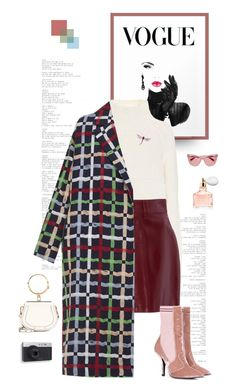 """The Check Coat"" by shoptillyadrop ❤ liked on Polyvore featuring Chloé, Burberry, N-DUO, Fendi, Effy Jewelry and Guerlain"