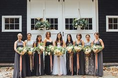 Kinda like the ribbons on the bouquets. color is offset by the darker dresses, but looks great against the white of the bride's gown too
