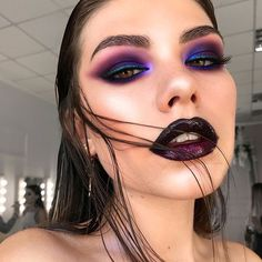 Gorgeous Makeup: Tips and Tricks With Eye Makeup and Eyeshadow – Makeup Design Ideas Crazy Makeup, Glam Makeup, Pretty Makeup, Makeup Art, Beauty Makeup, Hair Makeup, Amazing Makeup, Glitter Face Makeup, Dark Makeup Looks