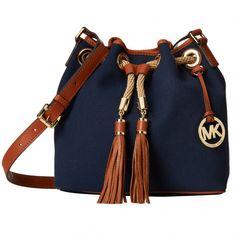 d7545e61953f4 Grüner Online Shop  Michael Kors Tasche MARINA in Navy Handtaschen