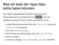 Was wir statt der Hypo Alpe Adria haben könnten