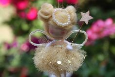 Golden fairy angel, small doll, nursery decor, wishing fairy, baptism favour, christening gift, angel in heaven, sympathy gift, fairy decor by Dinasdolls on Etsy