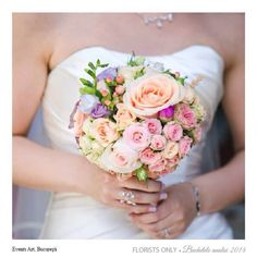 Pretty wedding bouquet with roses