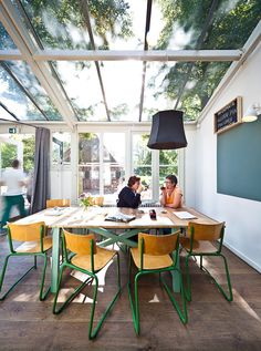 Lovely ideas for a garden room. Big table... light... (via @Fabio Glez-Calzada Sasso  -Thuys at the Dolhuys by Overtreders W)