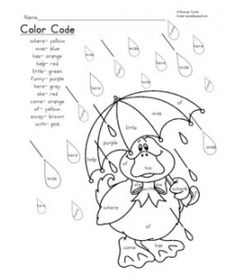 preschool rainy day coloring pages - photo#29
