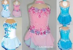 Ice/Roller Figure Skating Dress/Baton Twirling outfit/Tap leotard Made to Fit | eBay I am actually following the blue butterfly one on ebay right now as 1 of 3 for Maggie