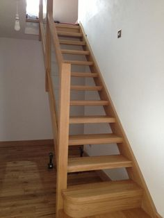 Glass Balustrade On Oak Open Plan Stairs