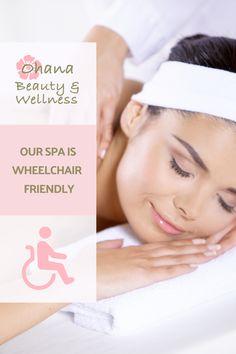 Our day spa is wheelchair friendly.  #Wheelchair #WheelchairFriendly #DaySpa #CenturyCity #Relaxation #Unwind #FeelGood