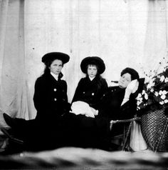Grand Duchesses Olga, Anastasia and Empress Alexandra.