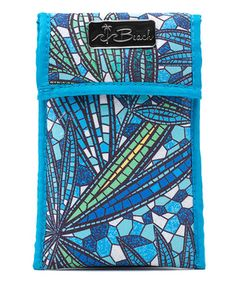 Loving this Blue Mosaic Cosmetic Pouch on #zulily! #zulilyfinds