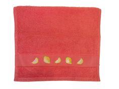 Serviette invité essuie-main citrons brodée à la main : Textiles et tapis par emilie-broderie / Alittlemarket.com
