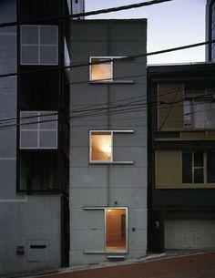 Atelier Nishikata - Awajicho building. Via takeshiyamagishiphotographs.