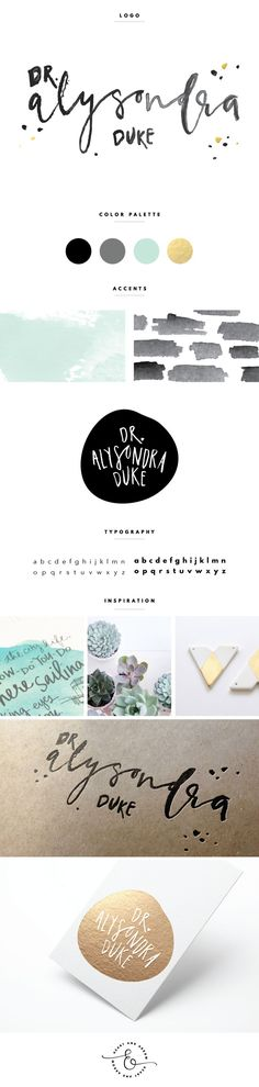Hand lettered logo for Dr. Alysondra Duke