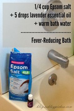 Reducing a Fever with Essential Oils Fever-Reducing Bath Recipe Yl Oils, Doterra Oils, Doterra Essential Oils, Natural Essential Oils, Essential Oil Blends, Natural Oils, Essential Oils For Fever, Natural Health, Young Living Oils