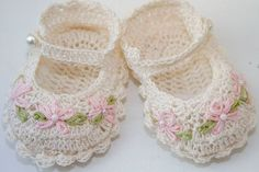 Free Crochet Baby Patterns | Free baby bootie crochet patterns crochet for beginners. by kerry1963