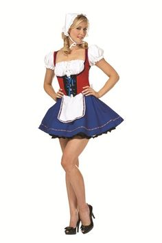 Become the sexiest miss at any costume party in this Women s Swiss Miss Costume…