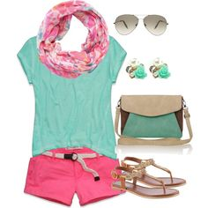 Cute casual summer outfit by oolalalivia on Polyvore featuring Abercrombie & Fitch, ALDO, Pieces and Victoria Beckham