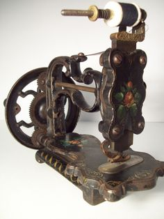 Antique Vintage A F Johnson Co Hand Crank Sewing Machine | eBay