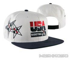USA  92 Barcelona Olympics Dream Team White Snapback Hat Jordan Dream Team baeda8641245