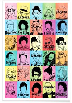 Fame als Premium Poster von Draw Me a Song | JUNIQE