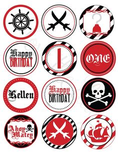 Pirate Party -- use symbols for cake decorating ideas