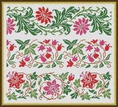 Cross Stitch Pattern Sampler Large Floral por MyTreasureIsland
