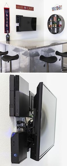 How to mount your TV outside and hide the cable box and wires behind ...